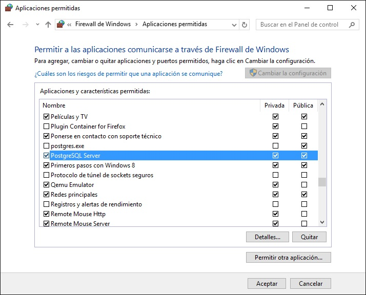 LNominas: Configurar el Firewall de Windows.
